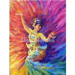 The Dance of Oil Lamp painting