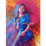 The Great Lady with Pathein Umbrella