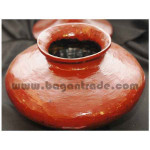 Shan Traditional Red Lacquer Pot