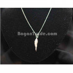 Jumping Fish Design Silver Necklace