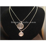 Silver Necklace with Coil pendant