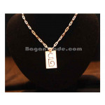 Silver Necklace with Myanmar Alphabet pendant Squa
