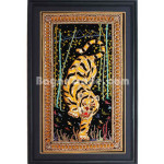 Golden Tiger  Embroidery in Myanmar