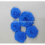 fabric flower appliques by handmade