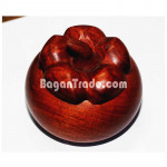 Small  wooden plates Sets with Mangosteen Craft Bo