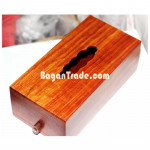 Rose Wood Rectangle Tissue Box