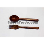 Pair of Spoon and Fork made by Rose Wood