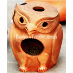 Owl  Clay Pot