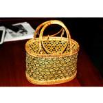 Myanmar Handmade Green Cane Basket