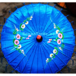 Blue Color with Floral Design in Pathein Parasol