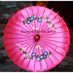 Pink Color with Floral Design of Pathein Umbrella