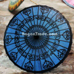 Blue Colour of Bagan Design in Pathein Parasol