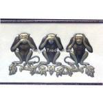 Three Wise Monkeys Embossed painting
