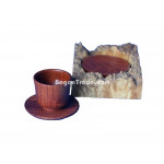 Rosewood Coasters Sets with Round Case