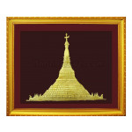 The Shwedagon Pagoda Embossed Painting