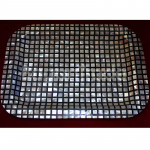 Mother of Pearl Tray with Black and White Design