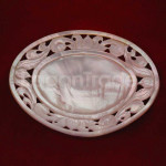 Oval shaped of Dessert Plate Made by Mother of Pea