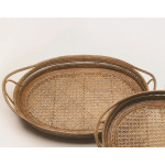 Handmade Nice oval tray made by rattan