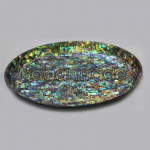 Oval Shape Lacquer Tray with Sparkling Paua Shell