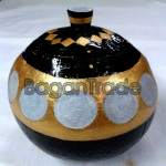 Myanmar Antique Coin on Coconut Shell Pot