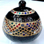 Handcraft Of Mosaic Style Coconut Shell