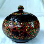 Myanmar Traditional Stylus Art Coconut Shell