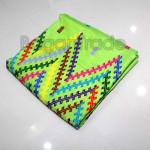 Silk Cotton Fabric longyi Green color