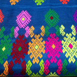 Silk by Cotton Kachin Traditional Flower Design On