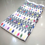 Kachin Silk Fabric with White Color