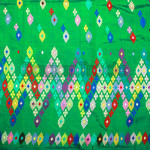Kachin Traditional Flower Patter Silk/Cotton Desig