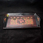 Lacquer Tray with Elephant Design from Myanmar
