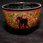 The Elephant Design Lacquer ware Cup