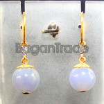Lavender Jade and diamond Earring with 18k gold