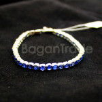 Blue color Sapphire facted with 18k gold Bracelet