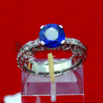 Sapphire with Diamond Ring