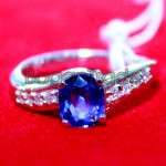 Diamond with Sapphire Ring made by Natural Gems St