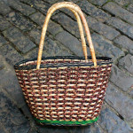 Water Hyacinth with Cane Office Bag for Ladies