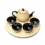 Teapot Set made with Bamboo Lacquer