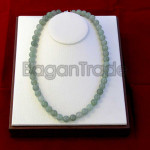 Green Color of Jade Necklace made in Myanmar