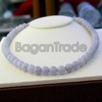 Beautiful Color of Lavender Jade Bead Necklace