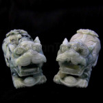 Pixiu couple or Temple Lion jade Sculpture
