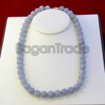 46beads Beautiful Lavender Jade Necklace
