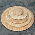 Round Cane Coaster Set in Myanmar