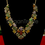 Gorgeous Jade Necklace with colourful