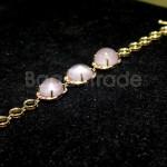 Rose Quartz Pink Gold Precious Ruby Bracelet