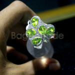 Peridot Ring With 925 Silver Women Ring