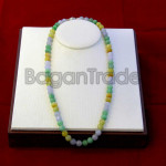 Colorful Jade Bead Necklace made in Myanmar