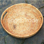 Hand woven Cane Tray in Myanmar