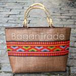 The Traditional Design Cane Mat Handbag