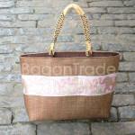 The Traditional Elephant Design Cane Mat Handbag